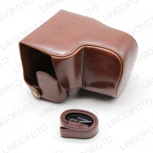 Retro PU Leather Camera Case Bag Full Cover for Leica V-LUX(Typ 114) Coffee CC1282b