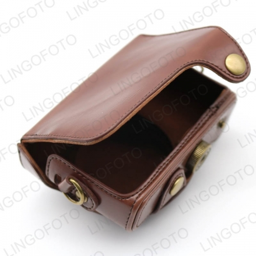 with Strap PU Camera Bag Leather Case For Sony HX50/HX60 CC1307b