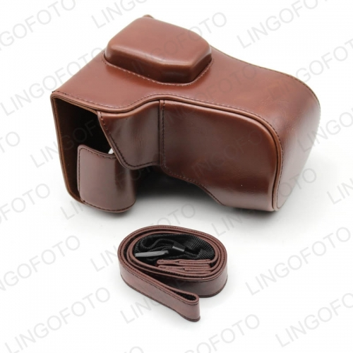 Genuine Real Leather Camera Bag Case Half Body For Fuji Fujifilm X-T10/X-T20 Bottom Opening CC1775c