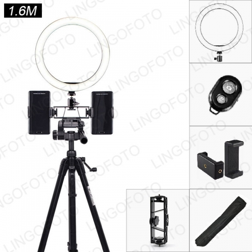 Ring Light with Tripod Stand, 360° Rotation Cell Phone Holder Table Lamp with 3 Light Modes for YouTube Video and Makeup UC9794 UC9795