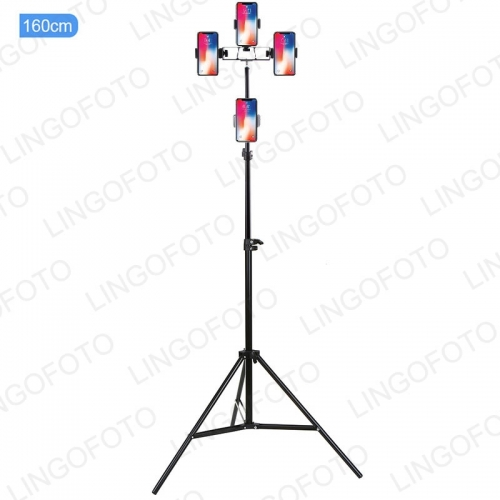 Aluminum Alloy Flexible Tripod Stand & Multi-position Cell Phone Holder for Live Stream UC9841-UC9842