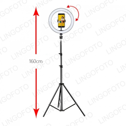 "10""LED Ring Light Dimmable Lighting Kit Phone Selfie Tripod For Makeup Youtube Live Blutooth Tripod"