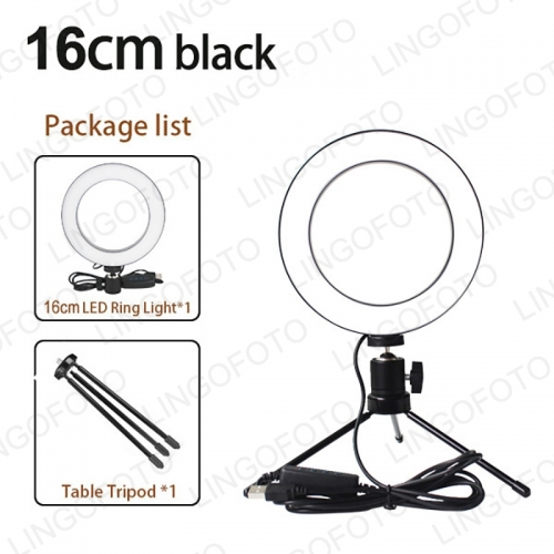 6inch 10 inch Makeup Light LED Dimmable Ring Light with Metal Mini Desktop Tripod