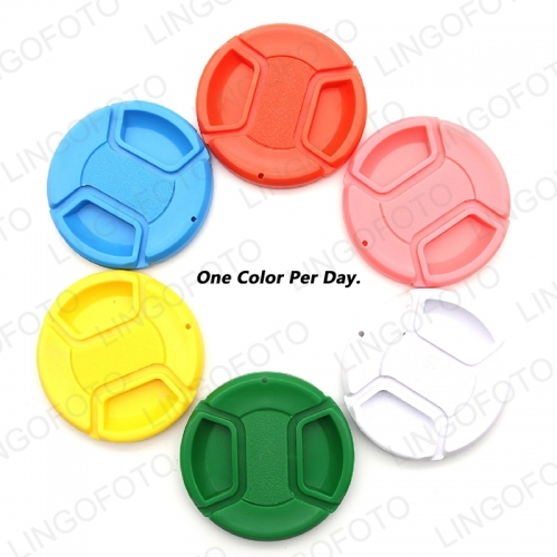 6 in 1 Colorful Center Pinch Snap-on Lens Cap One Color Per Day For Canon For Nikon Camera Accessories FS3161 FS3162 FS3163 FS3164 FS3165 FS3166 FS3167 FS3168 FS3169 FS3170 FS3171 FS3172 FS3173 FS3174