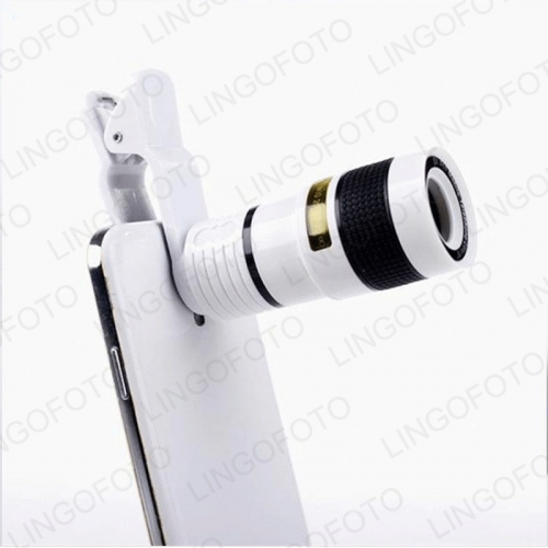 Clip 8X Zoom Cell Phone Telescope Lens Universal Telephoto External Smartphone Camera Len NP8185