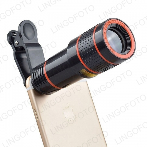 Clip 12X Zoom Cell Phone Telescope Lens Universal Telephoto External Smartphone Camera Len NP8186