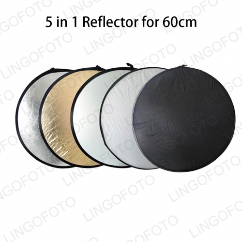 Five-in-one Photo Reflection Plate Oval Hand Folding Portable Light Plate Baffle Plate Black Light Absorption Patch Plate LC6101