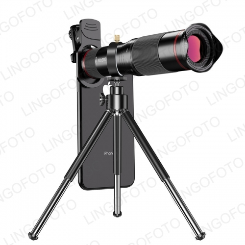 Astronomical Telescope 48X Hd Mobile Phone Macro Lens Zoom Telephoto Camera Tripod Alloy Telescope For Iphone 11 Pro Galaxy S9 NP8192