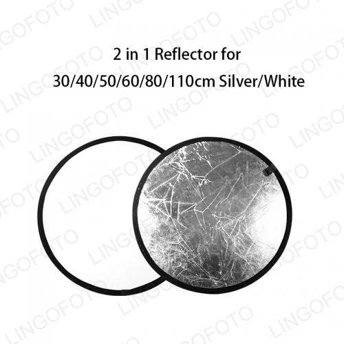 Wholesale Portable 2in 1 Reflector Silver White NP6121