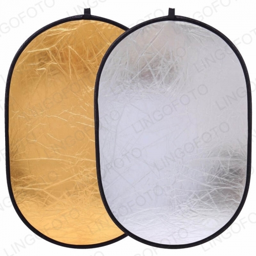 2 in 1 Gold Silver Reflector Collapsible Portable Disc Light Reflector NP6131