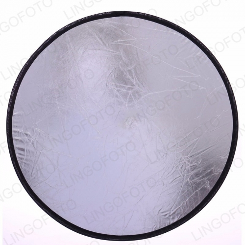 Wholesale 2 in1 Photography Studio Light Collapsible Disc Reflector Golden AND Sliver LC6120