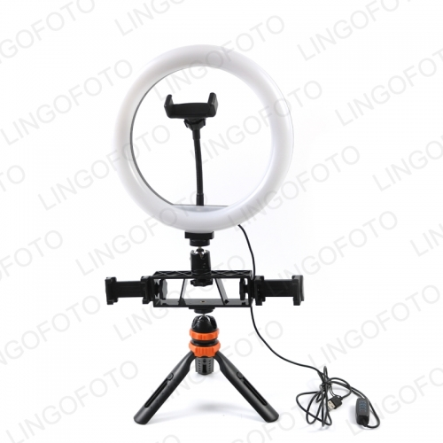Makeup Youtube Video 10inch Selfie Led Ring Light Phone Video With Table Tripods Three Phone Holder Dimmable UC9991