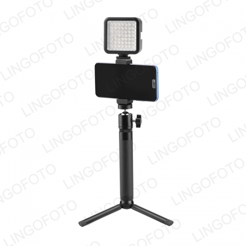 LED Phone Video Light Photographic Lighting Extension Rod Mobile Phone Holder Tripod For Gopro For Live Streaming UC9994